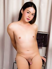 Blossom Is A Hot Sexy Ladyboy With A Juicy Body, Big Big Ass And A Rock Hard Uncut Cock! Enjoy This Sexy Transgirl Stroking Her Hared Dick For You!
