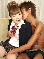 Teen Newhalf Sayaka Ayasaki Has An Insatiable Sexual Appetite So She Needs Not One, But Two Guys To Orgasm!