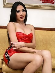Busty Ladyboy May Solo