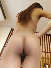 19 Year Old Small Tits Thai Ladyboy Sucks Off White Cock